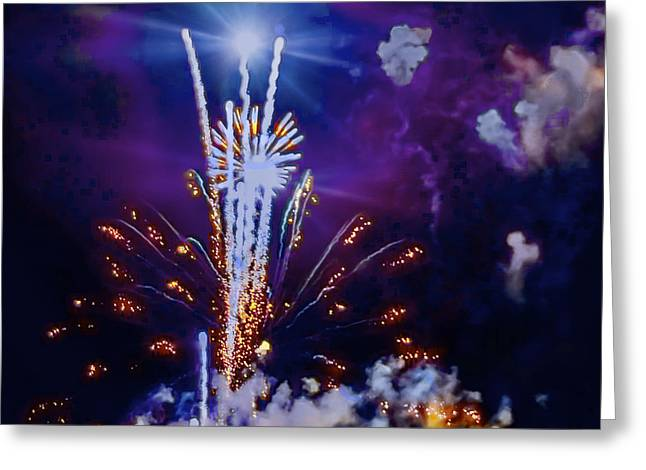 The Boom Greeting Card by Larry Bodinson