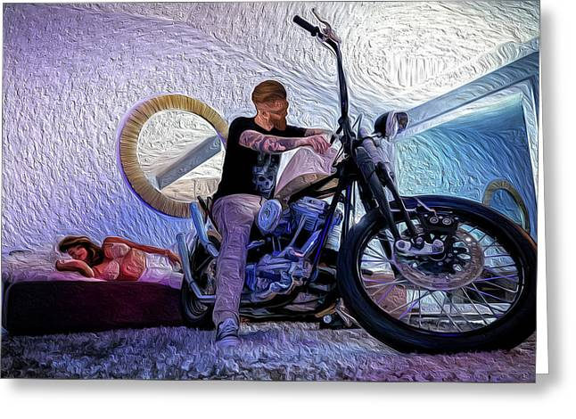 Greeting Card featuring the photograph The Boss- by JD Mims