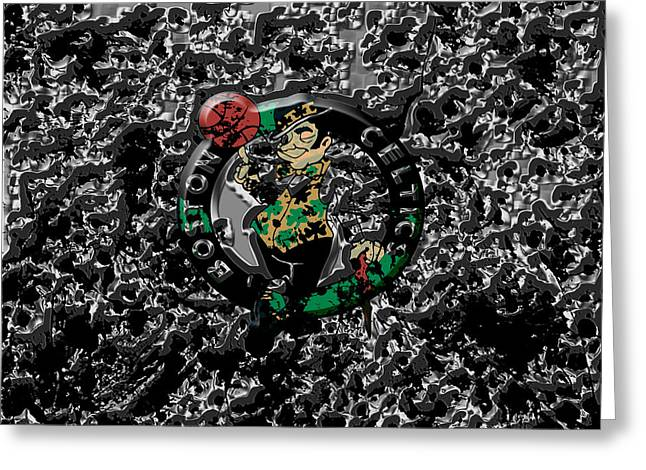 The Boston Celtics 1a Greeting Card by Brian Reaves