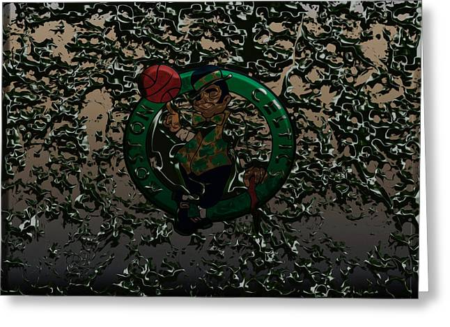The Boston Celtics 1c Greeting Card by Brian Reaves