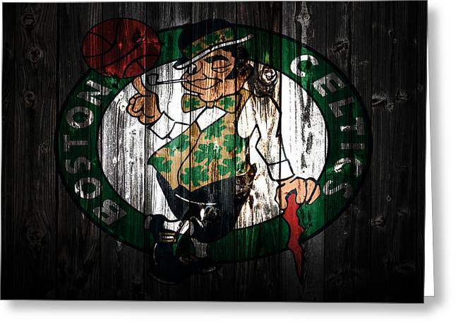 The Boston Celtics 5c Greeting Card by Brian Reaves