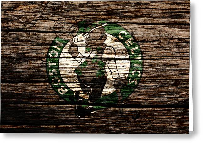 The Boston Celtics 6e Greeting Card by Brian Reaves