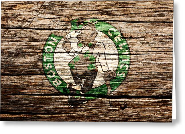 The Boston Celtics 6h Greeting Card by Brian Reaves