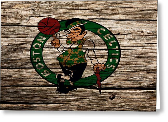 The Boston Celtics W1 Greeting Card by Brian Reaves