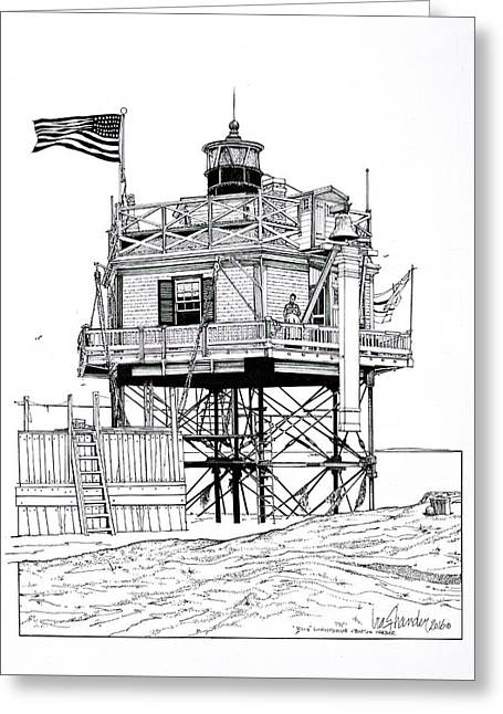 The Boston Narrows Lighthouse Greeting Card
