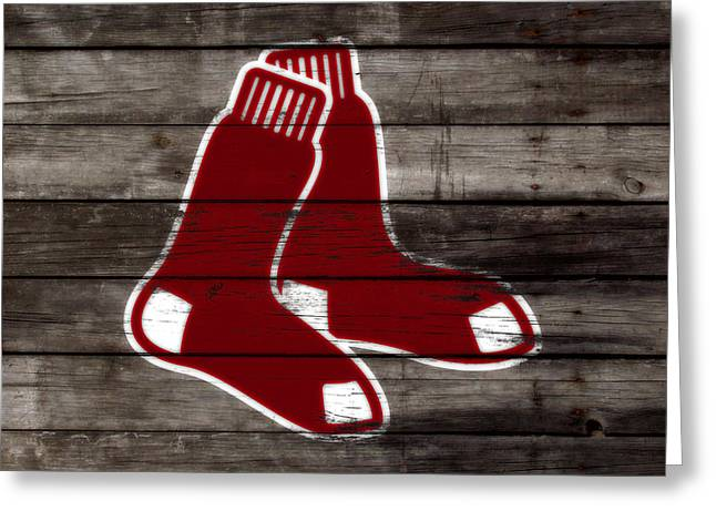 The Boston Red Sox W6   Greeting Card by Brian Reaves