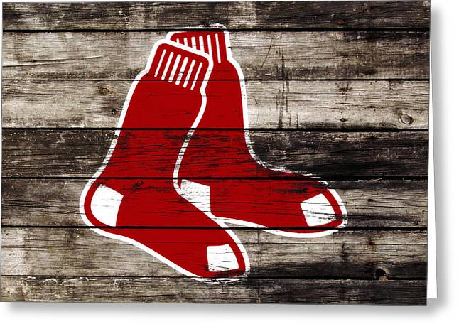 The Boston Red Sox W9   Greeting Card by Brian Reaves