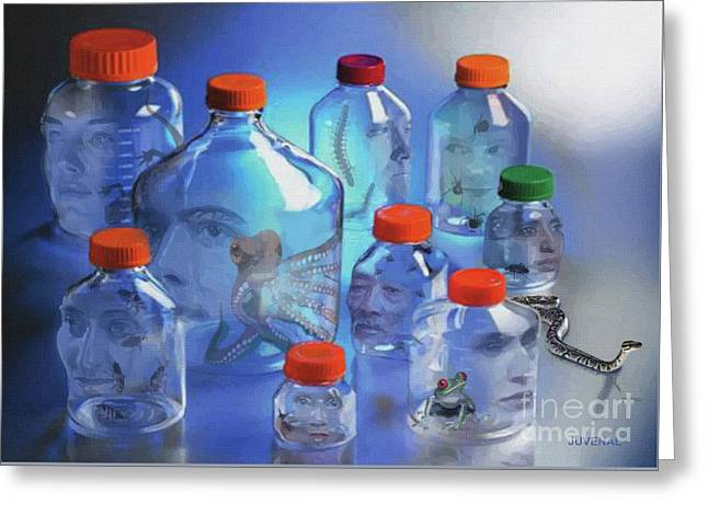 The Bottle Heads Greeting Card