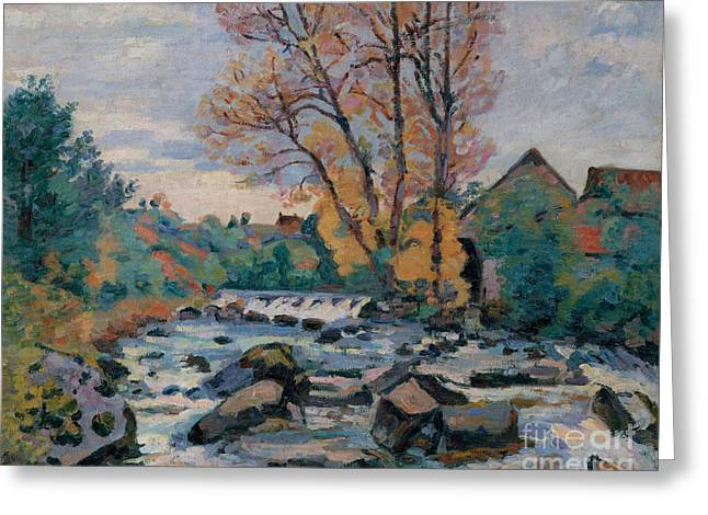 The Bouchardon Mill, Crozant Greeting Card by Jean Baptiste Armand Guillaumin