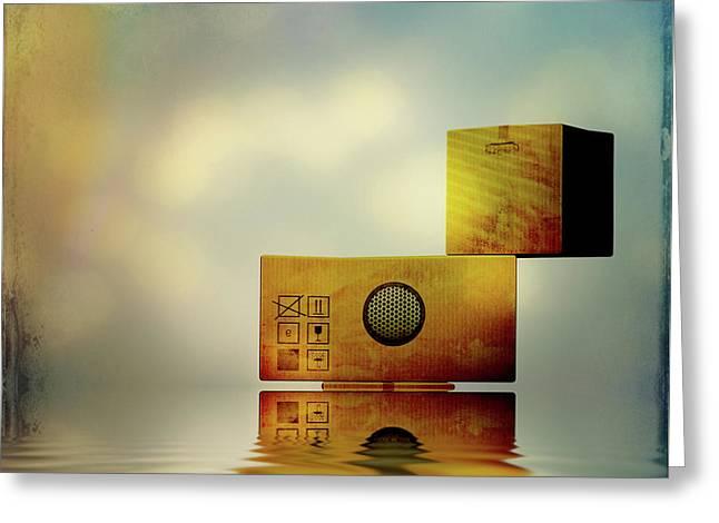 The Box Greeting Card by Bob Orsillo