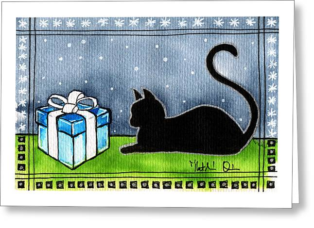 The Box Is Mine - Christmas Cat Greeting Card