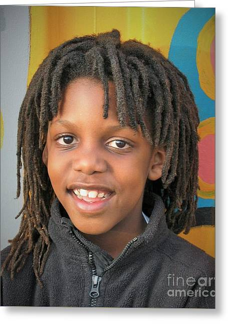 The Boy Who Wore Dreads Greeting Card by Angela J Wright