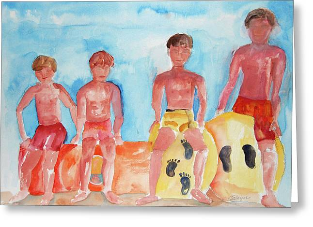 The Boys Of Summer Greeting Card
