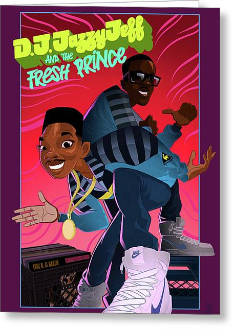 Greeting Card featuring the digital art The Brand New Funk by Nelson Dedos Garcia