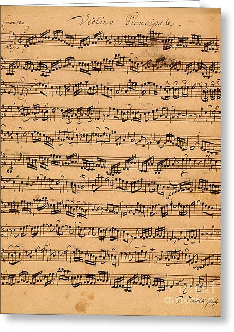 Music Notes Greeting Cards - The Brandenburger Concertos Greeting Card by Johann Sebastian Bach