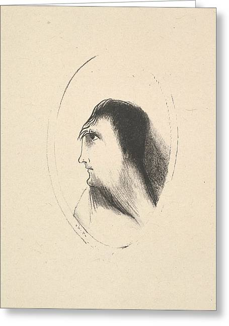 The Breadth And Flatness Of The Frontal Bone Greeting Card by Odilon Redon
