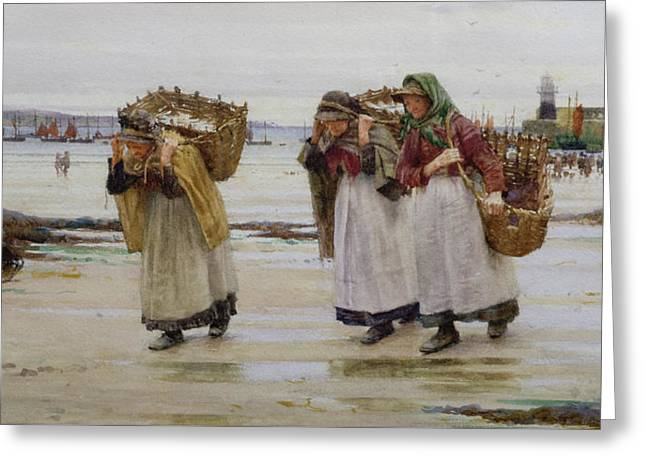 The Breadwinners Or Newlyn Fishwives Greeting Card by Walter Langley
