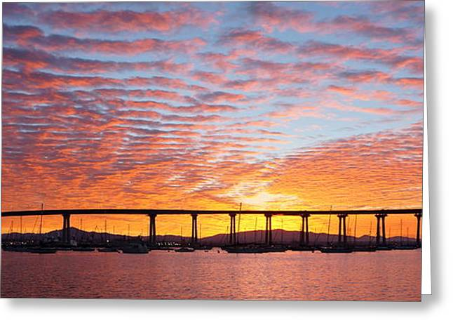 Greeting Card featuring the photograph The Break Of Dawn In Coronado by Jeremy McKay