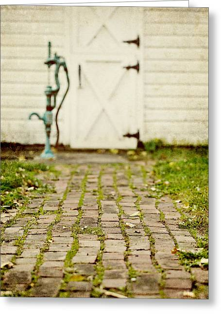 The Brick Path Greeting Card by Lisa Russo