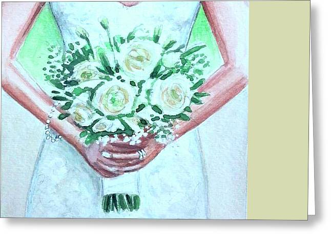 The Bride Greeting Card by Elizabeth Robinette Tyndall