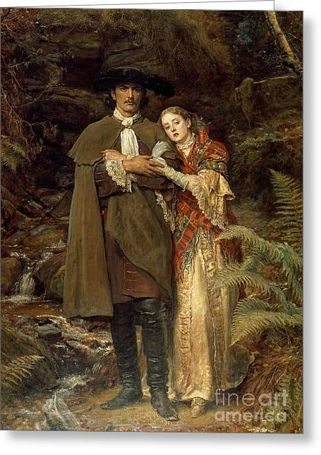 The Bride Of Lammermoor Greeting Card by Sir John Everett Millais