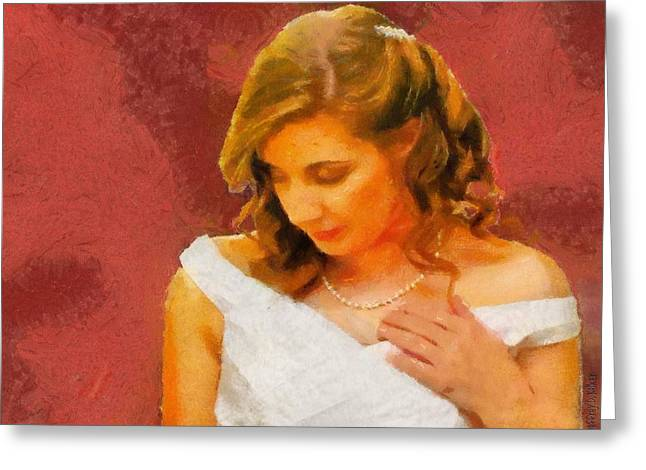 The Bride To Be Greeting Card by Jeff Kolker