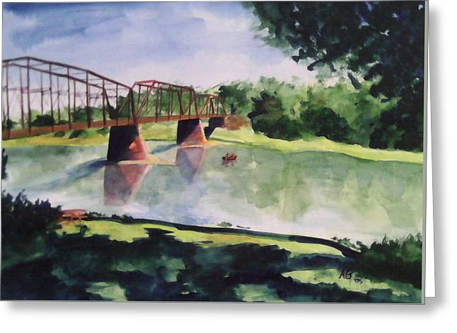 The Bridge At Ft. Benton Greeting Card