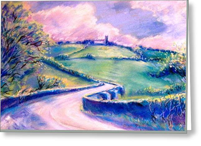The Bridge Below Hacketstown  Greeting Card by Trudi Doyle