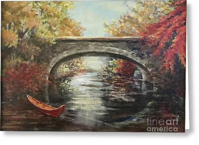 The Bridge Fall Greeting Card