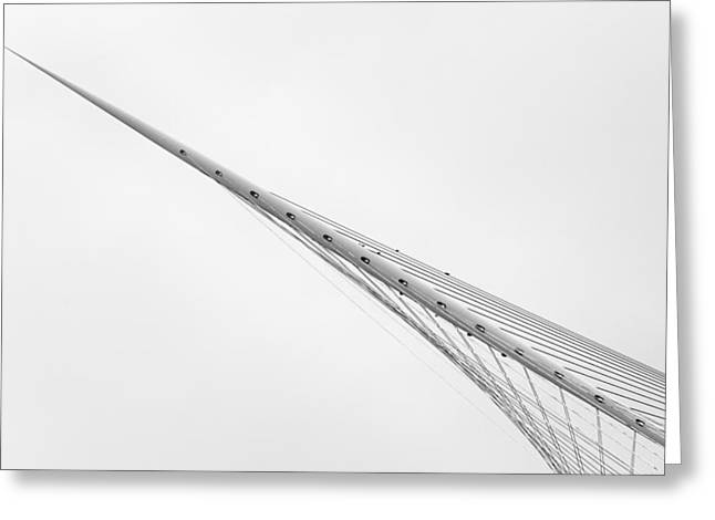 The Bridge Greeting Card by Jeroen Van De Wiel