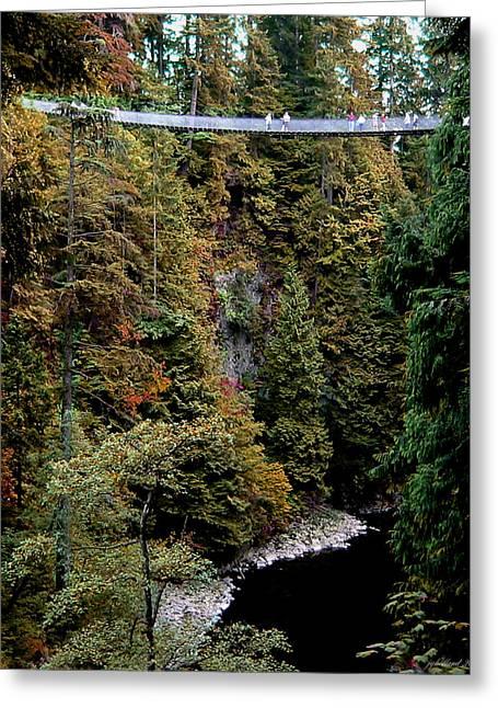 The Bridge Greeting Card by Joseph G Holland