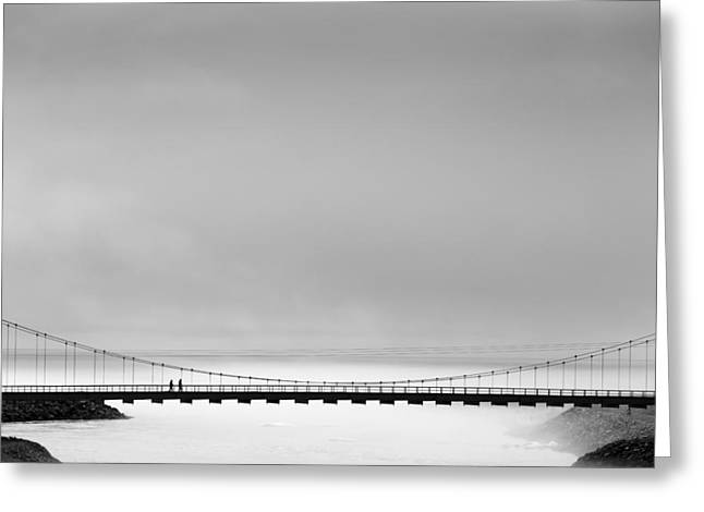 The Bridge Greeting Card by Markus Kuhne