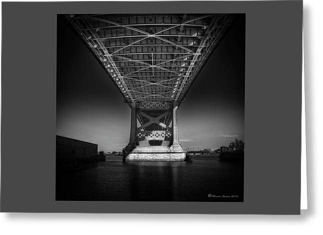 The Bridge Greeting Card by Marvin Spates
