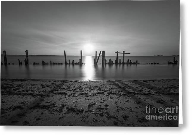The Bridge Of Light Bw Greeting Card