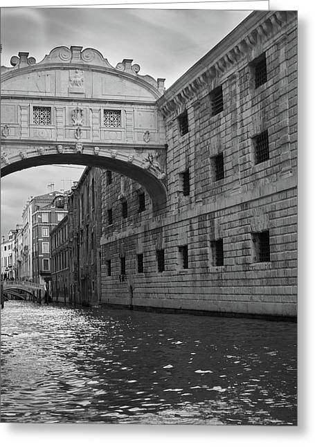 The Bridge Of Sighs, Venice, Italy Greeting Card by Richard Goodrich