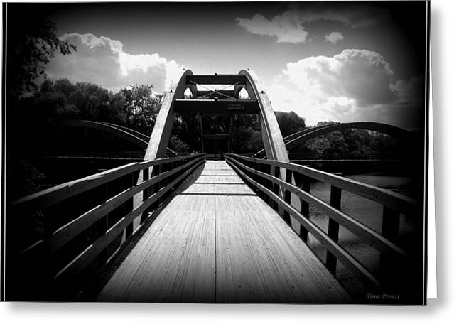 The Bridge Greeting Card by Trina Prenzi