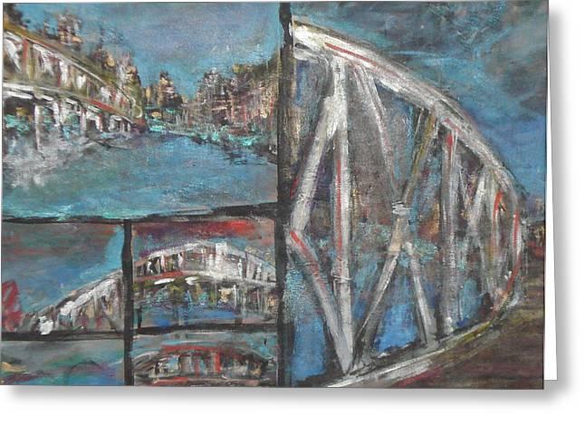 The Bridge Greeting Card by Vivien Ferrari