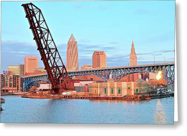 The Bridges Of Cuyahoga County Greeting Card by Frozen in Time Fine Art Photography