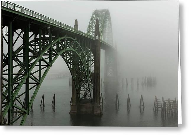 The Bridges Of Oregon's Coast - Yaquina Bay Bridge - 1  Greeting Card by Hany J