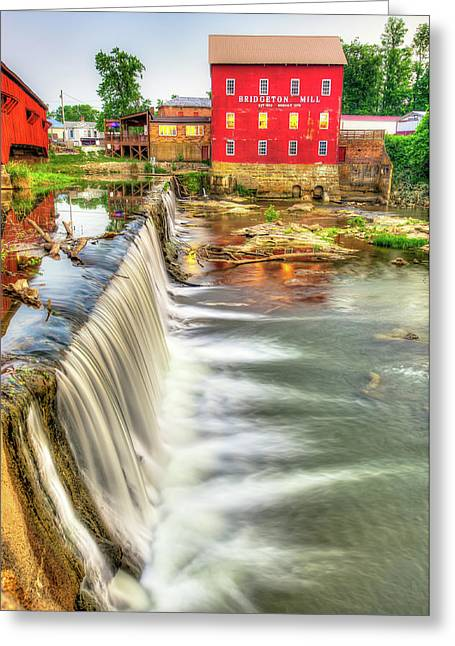 The Bridgeton Mill In Indiana - Est. 1823 Greeting Card by Gregory Ballos