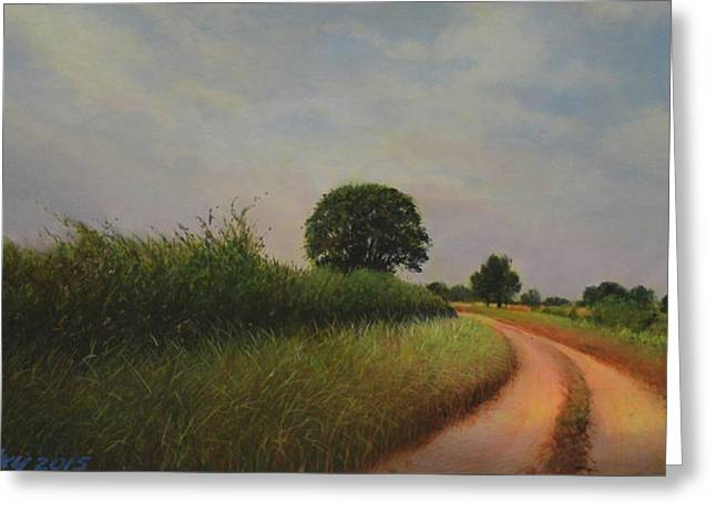 The Brighter Road Ahead Greeting Card