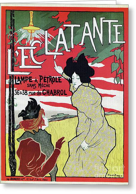 The Brilliant 1895 French Art Nouveau Ad Greeting Card