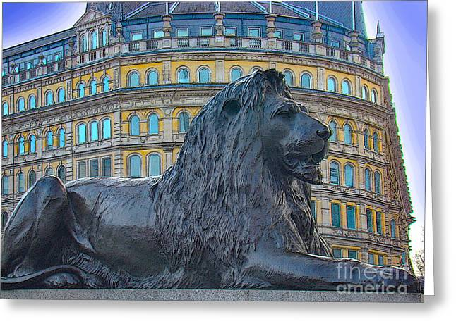 The British Lion Greeting Card by Al Bourassa