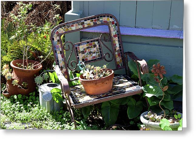 The Broken Chair Greeting Card by Barbara Snyder
