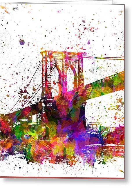 The Brooklyn Bridge 04 Greeting Card by Aged Pixel