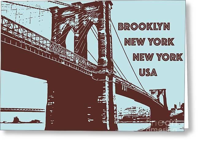 The Brooklyn Bridge, New York, Ny Greeting Card