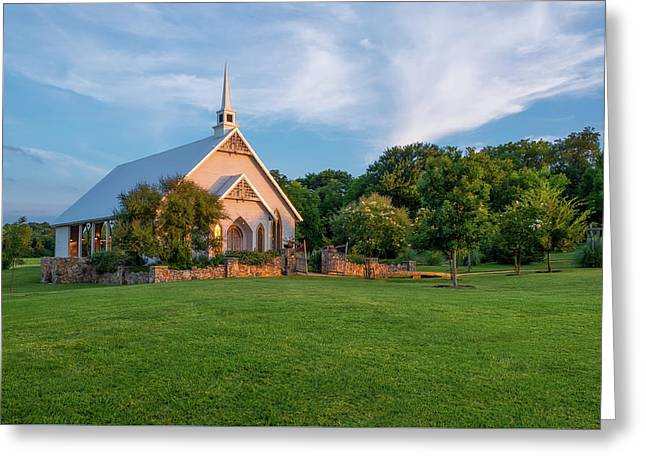Greeting Card featuring the photograph The Brooks At Weatherford Wedding Chapel by Robert Bellomy