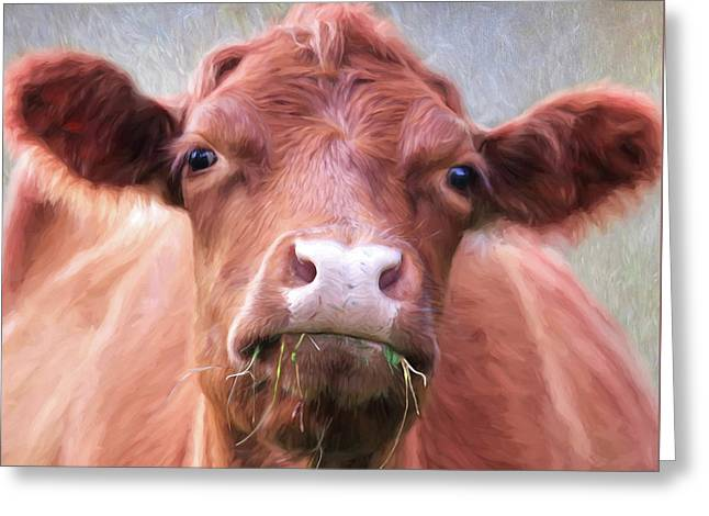 The Brown Cow Greeting Card by Lori Deiter