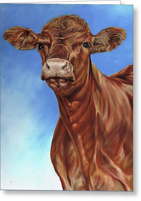 The Brown Cow Greeting Card