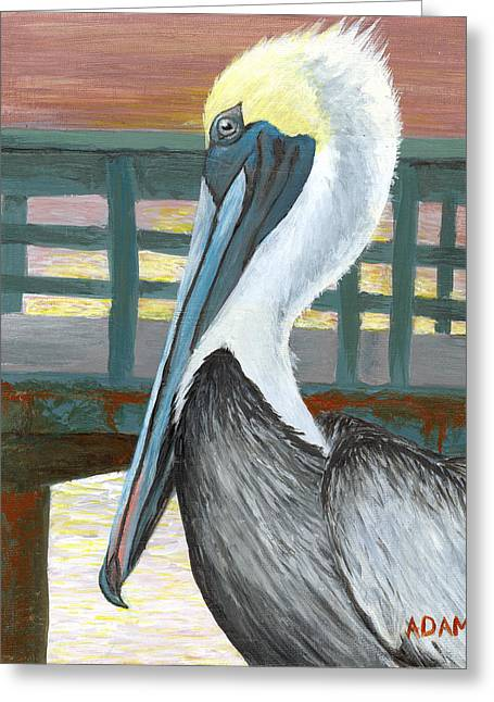 The Brown Pelican Greeting Card